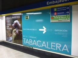 Tabacalera Promoción del Arte. Anuncio para Metro.Cecilia Paredes.