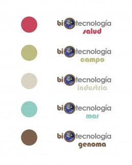 Exposición Biotecnología, logos.