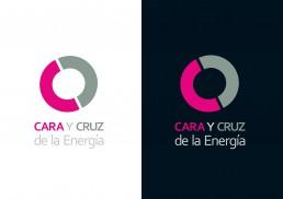 Cara y Cruz de la Energía, logotipo en dos versiones. Ponferrada.