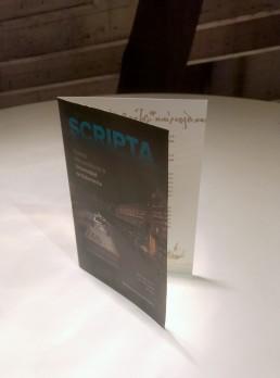 Folleto, exposición Scripta.