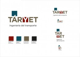 Taryet. Ingeniería del transporte. Logotipo y variantes.