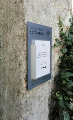 Museo Casa de Cervantes. Señalización.
