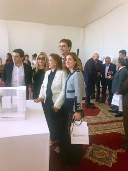 Primera piedra del Museo de la Fundación Dr. Leila Mezian